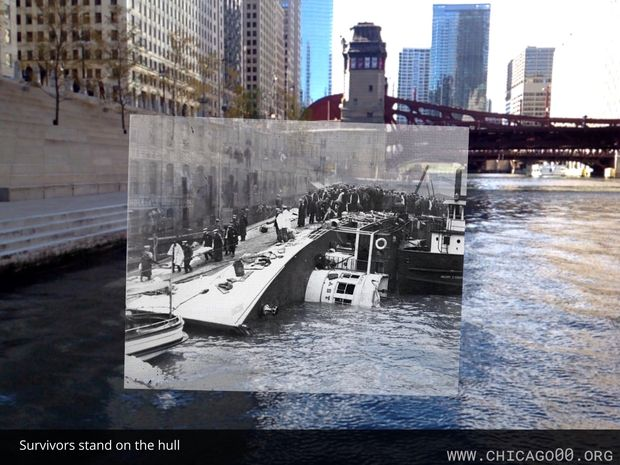 A new app lets Chicagoans see the Eastland Disaster unfold right where it happened more than 100 years ago.