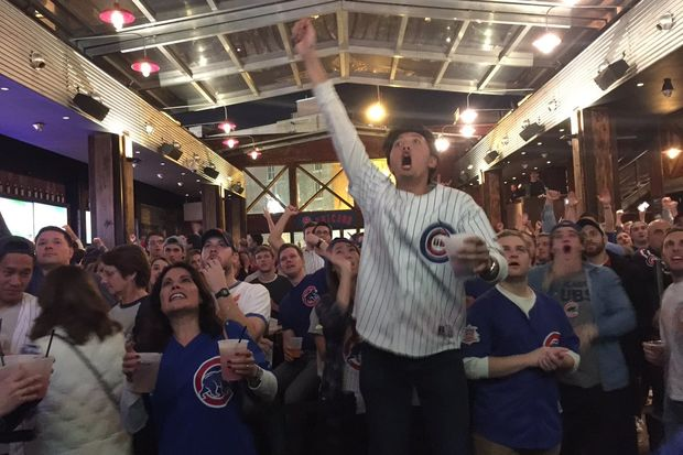 From Wednesday night in Wrigleyvilleto Thursday all over town, Chicagoansare celebrating the Cubs.