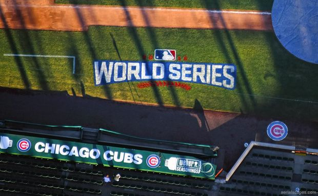 World Series logo at Wrigley Field.