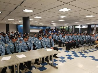Inside the Chicago Police Academy on the Near West Side.