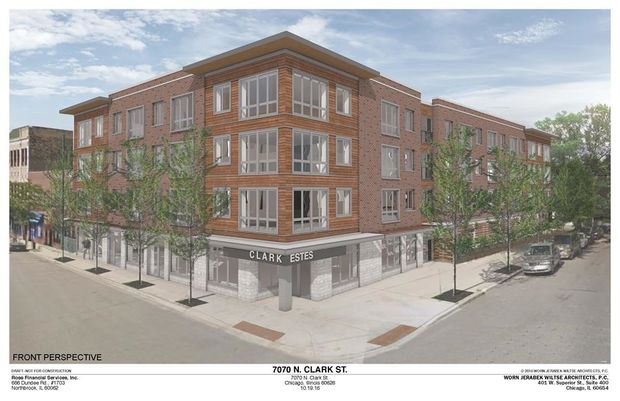 Ald. Joe Moore (49th) is holding a community meeting for residents to learn more about a 54-unit building with retail proposed for 7070 N. Clark St.