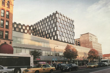 The 11-story apartment building is being built on East 126th Street.