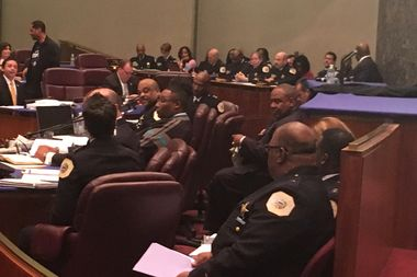 Chicago Police Supt. Eddie Johnson told the City Council reviewing the department's $1.5 billion budget that the force was on much firmer footing than a year ago.