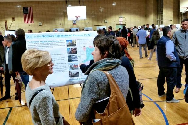 About 250 people attended the first public meeting on the city's zoning study of Gowanus on Oct. 27, 2016.
