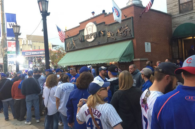 Murphy's Bleachers is charging a $100 cover fee after getting cited Friday for overcrowding. Despite the cover, a huge line formed outside the Sheffield Avenue bar Saturday.