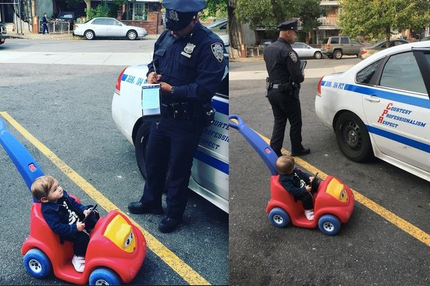 9-Month-Old Boy Riding Toy Car in Queens Gets Fake Speeding Ticket
