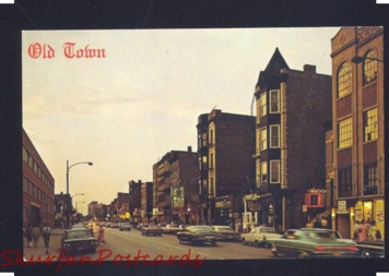 This post card shows the Old Town in the late 1960s.