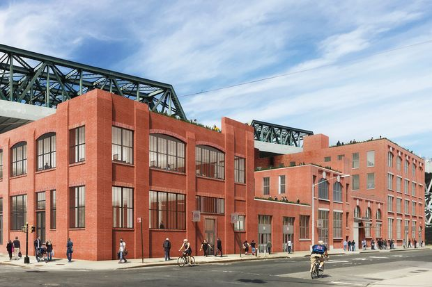 A rendering of Roulston House, the 200,000 square foot mixed use office and retail building that will replace the former art and music studios on Ninth Street and Second Avenue in Gowanus.