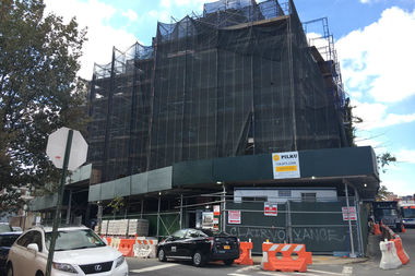 The 42-year-old man fell down a shaft at the Johnson Avenue building, officials said.
