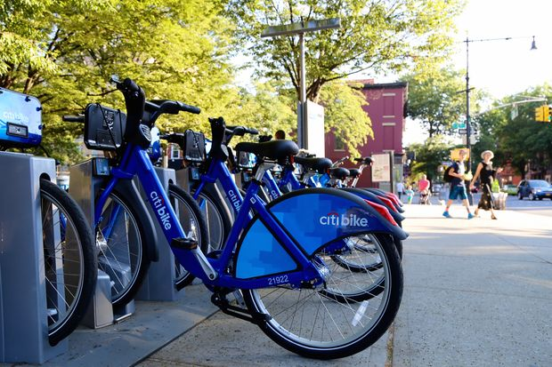 The Citi Bike docking station on Fifth Avenue and Third Street in Park Slope in August 2016. DOT moved the station closer to Third Street in October.