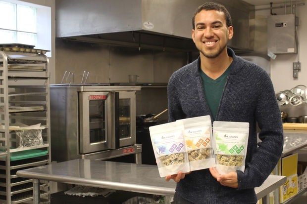 Jordan Buckner founded TeaSquares which are sold in Whole Foods.