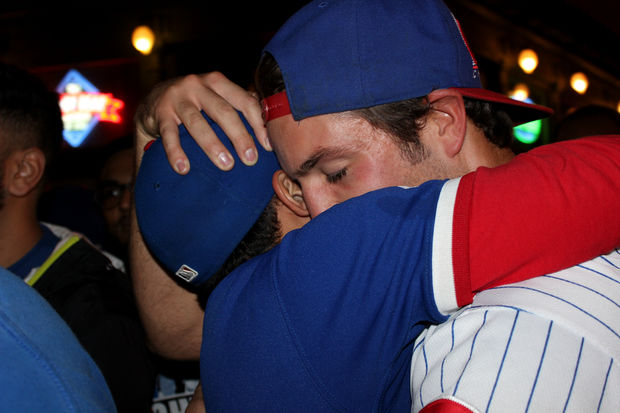 Cubs fans watch World Series Game 7 from Wrigleyville.