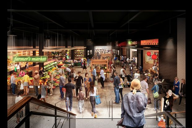 Developers unveiled renderings of the Market Line, a sprawling underground market and beer garden spanning three blocks underneath Delancey Street.