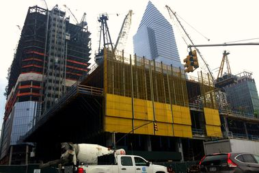 The sick construction worker was rescued from 50 Hudson Yards at 9:50 a.m. Thursday morning, according to the FDNY.