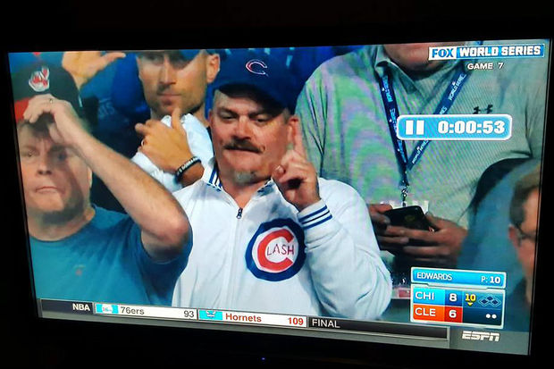 The cameras zoomed in on Lincoln Square's Dan O'Conor during Game 7.