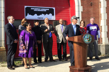 Mayor Rahm Emanuel announced a new collaborative partnership that will address economic development on the South Side.