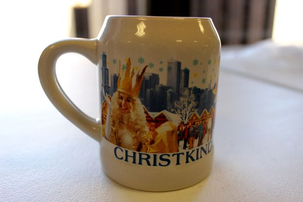 Christkindlmarket won't give out boot mugs this year, but they do have souvenir miniature beer steins.