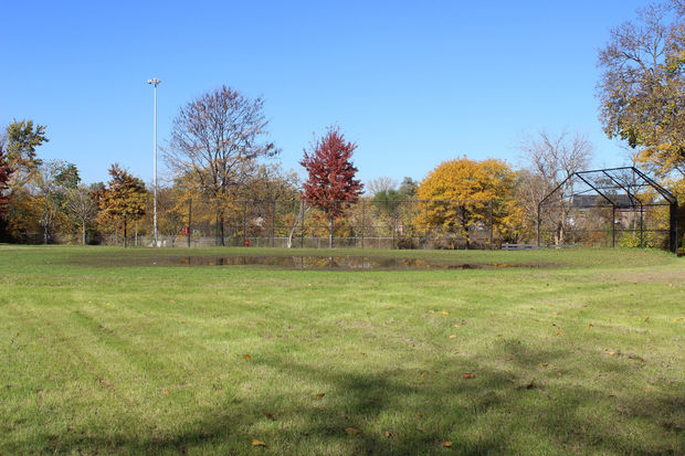 Wendell Smith Park's two junior-sized baseball fields could be replaced with one larger new baseball field.