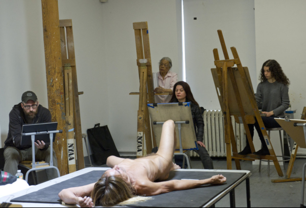 Iggy Pop was a surprise model for a drawing class at TriBeCa's New York Academy of Art