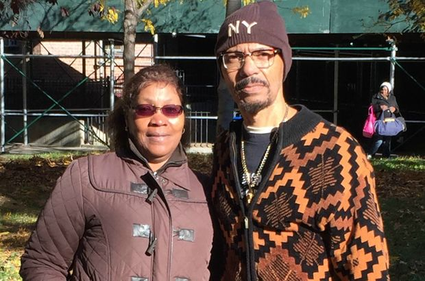 Nicholas Heyward Sr., whose 13-year-old son was fatally shot by police, and his wife, Donna.