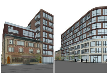 New renderings of the project at Milwaukee and Armitage avenues.