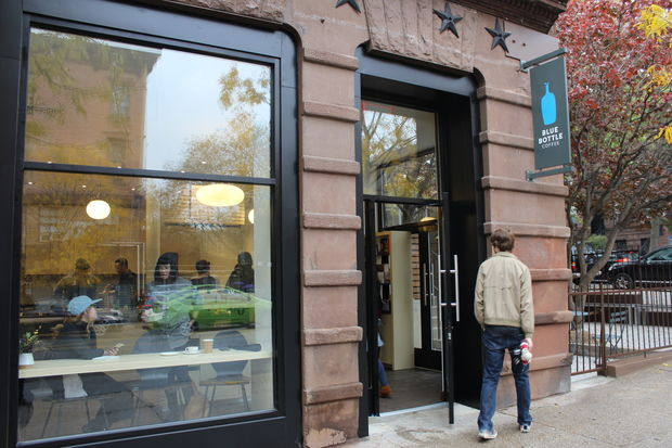 Blue Bottle Coffee opened Wednesday on Seventh Avenue and Third Street in Park Slope.
