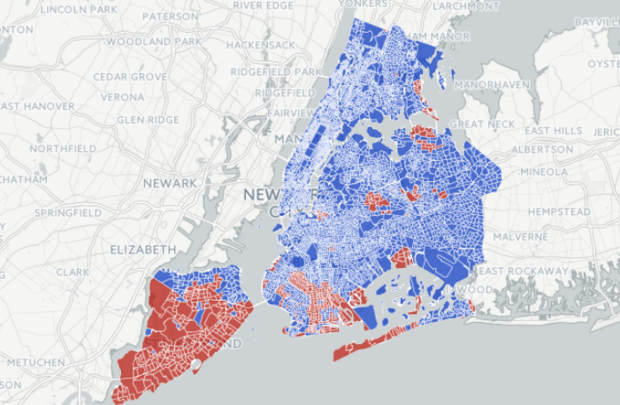 MAP: Who Voted for Trump and Clinton, by Neighborhood