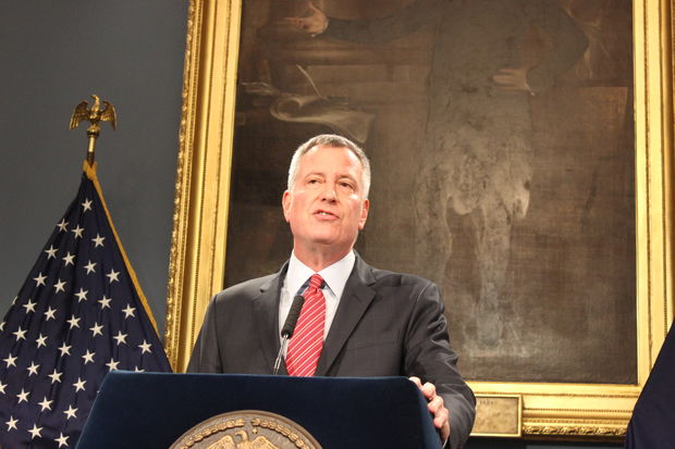 Just hours after Donald Trump was elected as 45th president of the United States, Mayor Bill de Blasio issued a warning to the president-elect that New York City is not going to stop being a tolerant place that welcomes and protects immigrants and people of all ethnic backgrounds and sexual orientations.