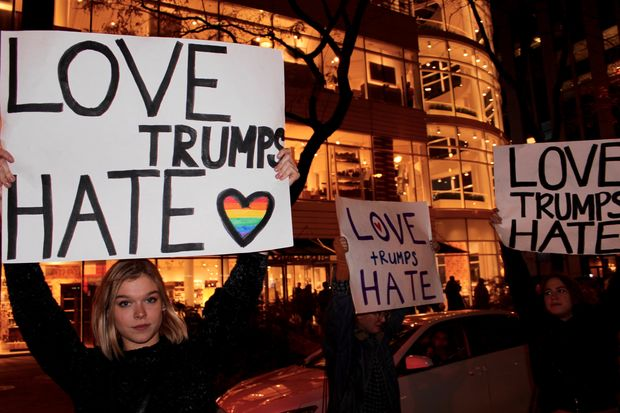 Thousands of outraged Chicagoans shut down the heart of the city Wednesday night over Donald Trump's election, hoping the mile-long display made their message clear.