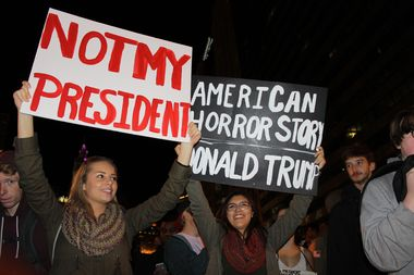 Protesters took to the streets of Chicago after Donald Trump won the U.S. presidency in November.