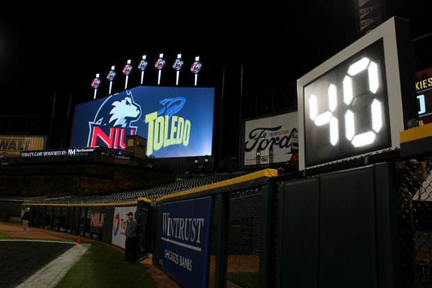 Guaranteed Rate Field, home of the White Sox, hosted its first ever football game: NIU Vs. Toledo.