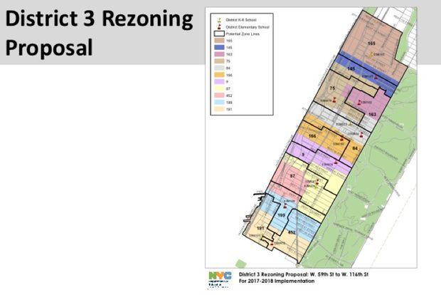 The DOE has presented two new zoning proposals for the neighborhood, one from West 59th Street to West 116th Street and another for Central Park North to West 124th Street.