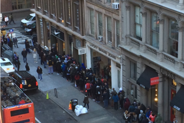 Lines Are Already Gathering Outside The Nike Store At 529 Broadway Was Supposed