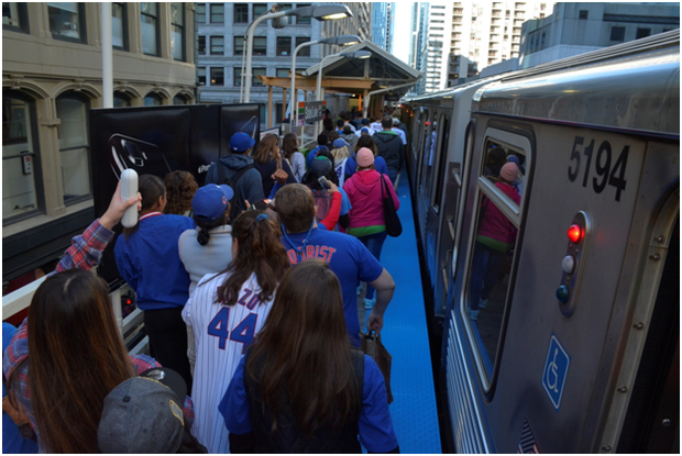 The CTA saw more than 1.1 million riders for the Cubs Parade, it said.