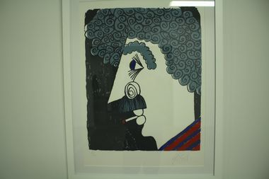 A self-portrait by Kurt Vonnegut included in