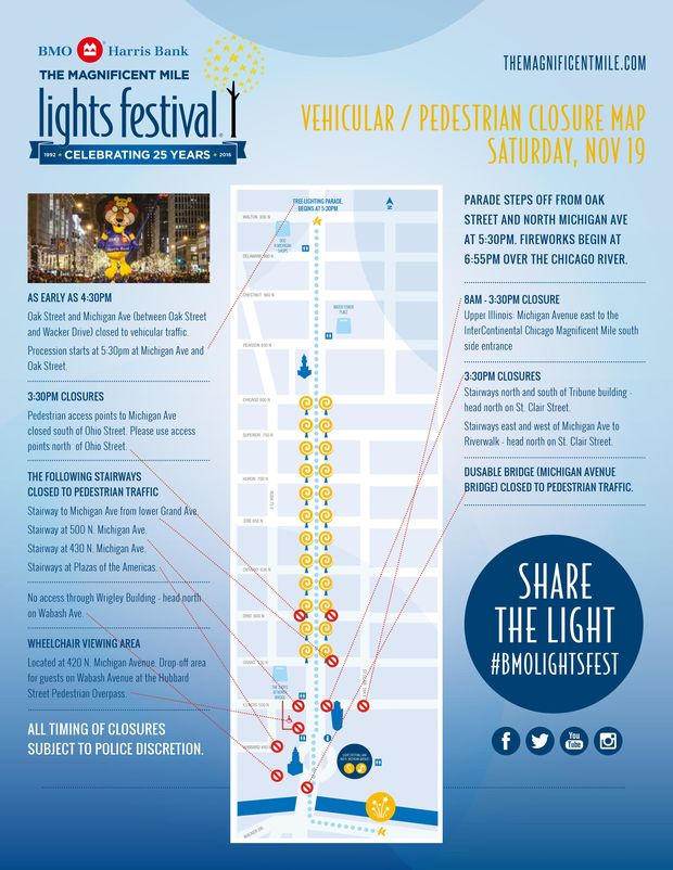 Magnificent Mile Lights Festival What To Know If You Go Downtown