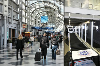 The new lanes were introduced for United Airlines and American Airlines passengers at O'Hare's Terminal 1 and Terminal 3, respectively.
