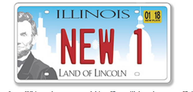 New Illinois license plate