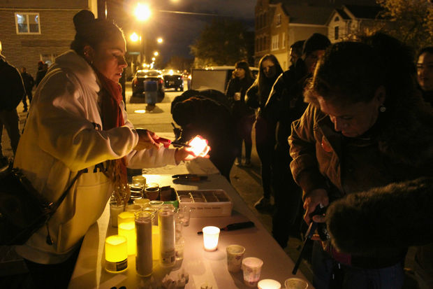 In an effort to curb violence, residents led a candlelight peace march through Pilsen in 2016.