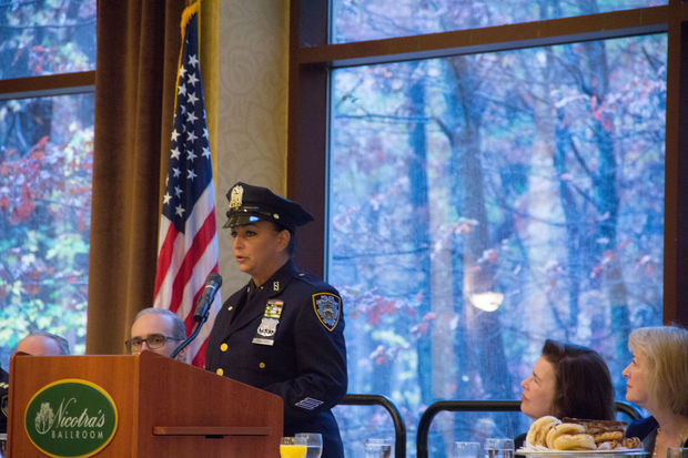 The city honored the 56 officers who administered naloxone saves on Staten Island.
