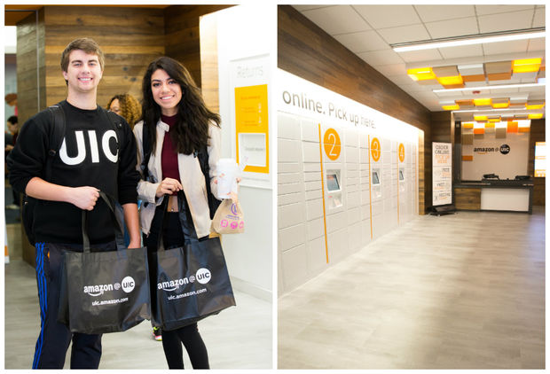 Amazon opened its newest prime pickup facility, called Amazon@UIC on the UIC campus, this month.