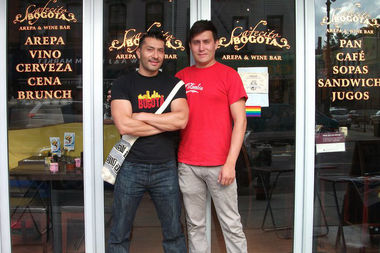 Owner of Cafecito Bogotá, Fernando Varela (on the left) is hosting a Love Trumps Hate event this Saturday. He owns the business with his partner and his brother Oscar (on the right).