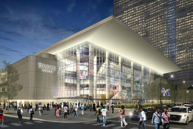 A new rendering of Wintrust Arena, the future home of DePaul basketball.