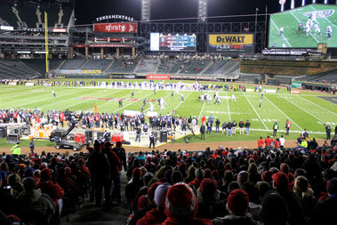 Only 10,180 showed up for the first football game in the 25-year history of the ballpark. The Illinois Sports Facilities Authority expected many more to challenge Guaranteed Rate Field's 40,000-person capacity.