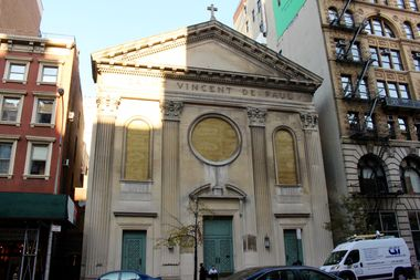 The Church of St. Vincent de Paul at 123 W. 23rd St., between Sixth and Seventh avenues.