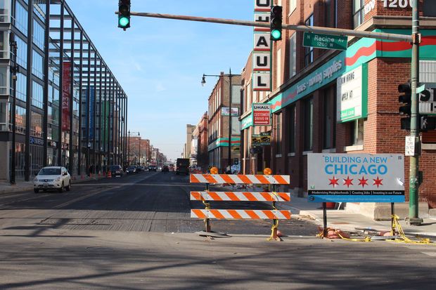 The Fullerton Streetscape project is in the final phase of construction with resurfacing of the street Thursday and Friday.