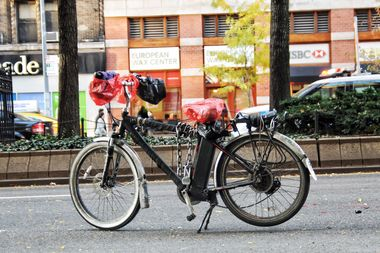 A 59-year-old cyclist riding this bike was hit and killed Thursday by a truck driver.