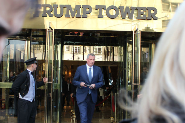 Mayor Bill de Blasio said he will fight Congress's decision to reimburse New York City for only 20 percent, or $7 million of the $35 million that the NYPD will spend to protect President-elect Donald Trump, his family and Trump Tower through the Jan. 20 inauguration.