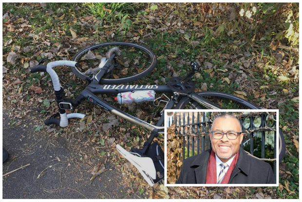 In a picture posted on his Facebook page, Ald. Howard Brookins (21st) shows the aftermath of a bicycle accident that seriously injured him.