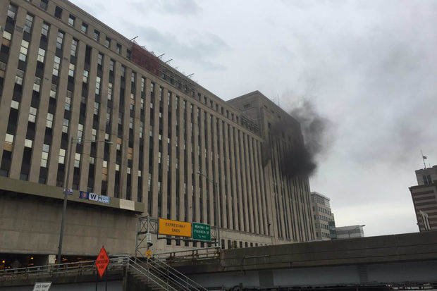 Photos from Tuesday's fire at the Old Main Post Office.